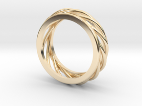 ring 1 in 14k Gold Plated Brass