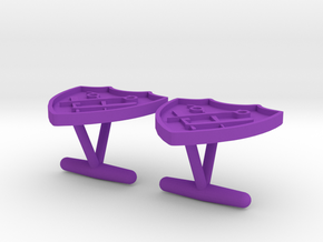 Gino's Signature Shield Cufflinks in Purple Processed Versatile Plastic