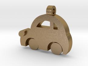 Minicooper Pendant in Polished Gold Steel