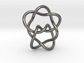 0362 Hyperbolic Knot K6.33 cm:1.76x, 1.15y, 2.11z in Polished Nickel Steel