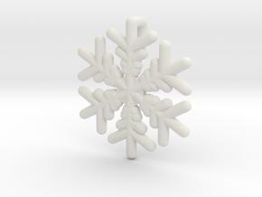 Snowflakes Series III: No. 16 in White Natural Versatile Plastic