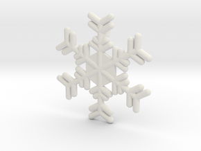 Snowflakes Series III: No. 17 in White Natural Versatile Plastic