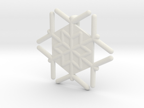 Snowflakes Series III: No. 18 in White Natural Versatile Plastic