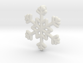 Snowflakes Series III: No. 22 in White Natural Versatile Plastic