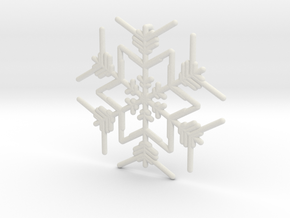 Snowflakes Series III: No. 3 in White Natural Versatile Plastic