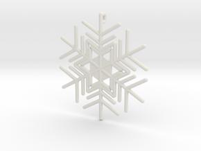 Snowflakes Series III: No. 6 in White Natural Versatile Plastic