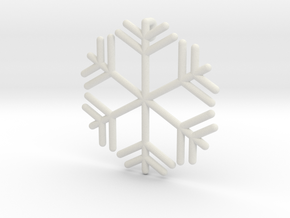 Snowflakes Series III: No. 8 in White Natural Versatile Plastic