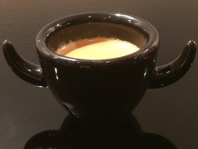 Bad Cup in Gloss Black Porcelain