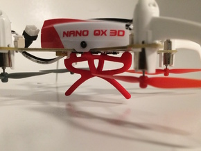 Blade Nano Qx 3d Frame support in Red Processed Versatile Plastic