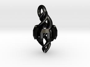 Ingress Resonator Pendant ( 1.1 inch) in Matte Black Steel