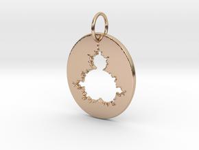 Mandelbrot Pendant in 14k Rose Gold