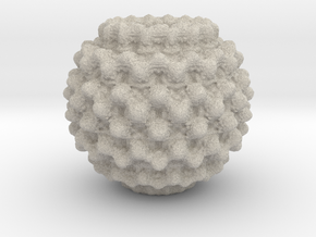 Mandelbulb Charm in Natural Sandstone