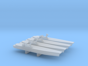 Sea Control Ship x 4, 1/6000 in Smooth Fine Detail Plastic