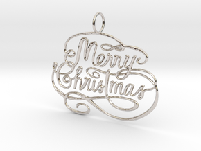 Christmas Tree Ornament  in Platinum