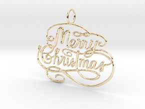 Christmas Tree Ornament  in 14k Gold Plated Brass