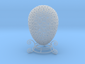 Beautiful Mini Ornamental Egg (4cm Tall) w/ stand  in Smoothest Fine Detail Plastic