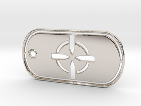 Battelfield 4 Ultimate Recon Dog Tag in Rhodium Plated Brass