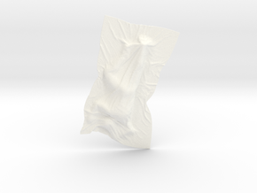 Shroud shape penholder 001 in White Processed Versatile Plastic