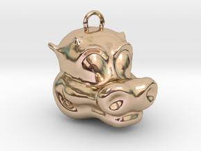 Little Dragon Head in 14k Rose Gold