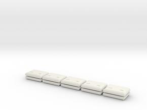 1:87 Anbauplatte  LKW (10x) in White Natural Versatile Plastic