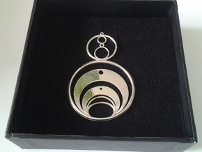 Crop Circle Inspired 1a in Polished Silver
