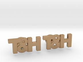 Monogram Cufflinks T&H in Polished Brass