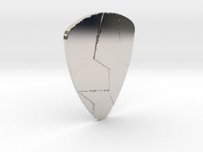 Voronoi  guitar pick in Platinum