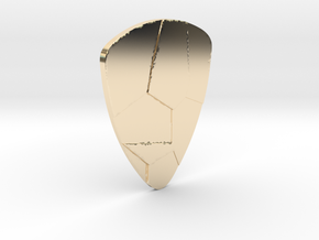 Voronoi  guitar pick in 14k Gold Plated Brass