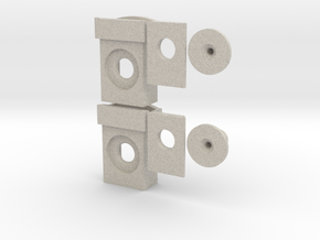 GP35 Semi-Scale Buffer Plate/ Draft Gear Box in Natural Sandstone: 1:87