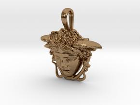 Medusa Rondanini pendant in Natural Brass