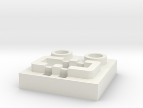 LEGO® Power Functions-compatible socket base in White Natural Versatile Plastic