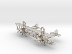 Biplane Earrings in Platinum