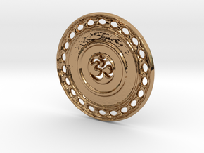 OM Particle Coin in Polished Brass