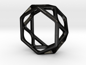 Structural Ring size 5,5 in Matte Black Steel