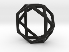 Structural Ring size 6,5 in Black Natural Versatile Plastic