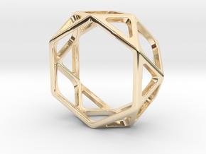 Structural Ring size 8,5 in 14k Gold Plated Brass
