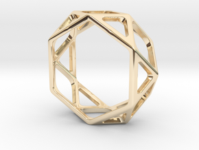 Structural Ring size 9,5 in 14k Gold Plated Brass