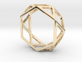 Structural Ring size 10,5 in 14k Gold Plated Brass
