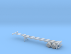 N 40' Container Chassis in Frosted Ultra Detail