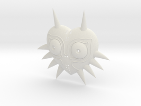 Majora's Mask (Lifesize) in White Strong & Flexible