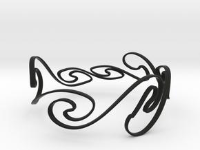Kelvin-Helmholtz Bracelet #1 - 8'' Wrist in Black Natural Versatile Plastic