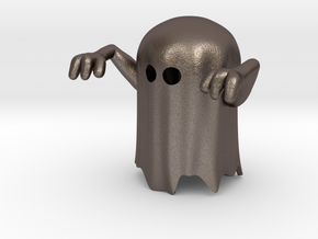 Spook (downloadable) in Polished Bronzed Silver Steel