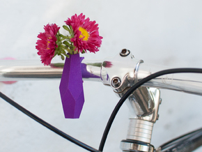 Geometric Bike Planter in Purple Processed Versatile Plastic