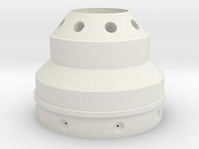 Dalek Gun-stick (base of barrel, #dg002) in White Natural Versatile Plastic