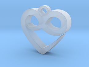 Infini Heart Necklace in Smooth Fine Detail Plastic