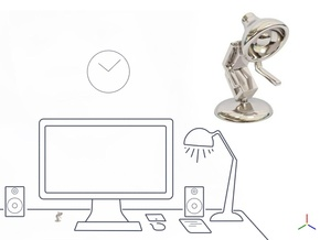 "Lala says, ""Shake hand with me"" - Desktoys in Platinum"