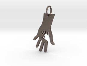 Helping Hand in Polished Bronzed Silver Steel