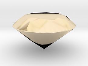 Diamond (Hollow) in 14K Yellow Gold