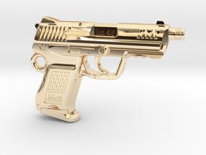 SPM-A001-Hk45-02 Heckler & Koch 45C Keychain in 14k Gold Plated Brass