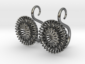 Plugs / gauges/ The Sunflowers 8g ( 3.2 mm) in Fine Detail Polished Silver